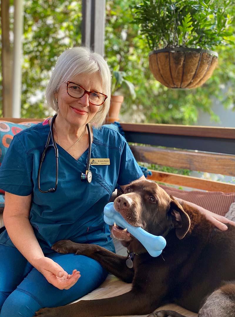Vet jenny and dog Biggie